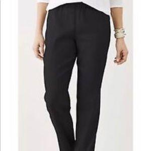 J Jill NWT Black Linen Cuffed Ankle Pants